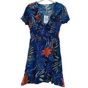 Blue Island Coverup Dress Tropical blue Size S